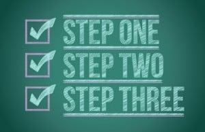Steps checkmark blackboard background illustration design graphic