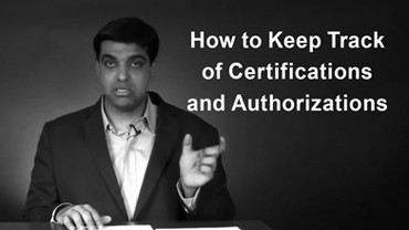 How to Keep Track of Certifications and Authorizations